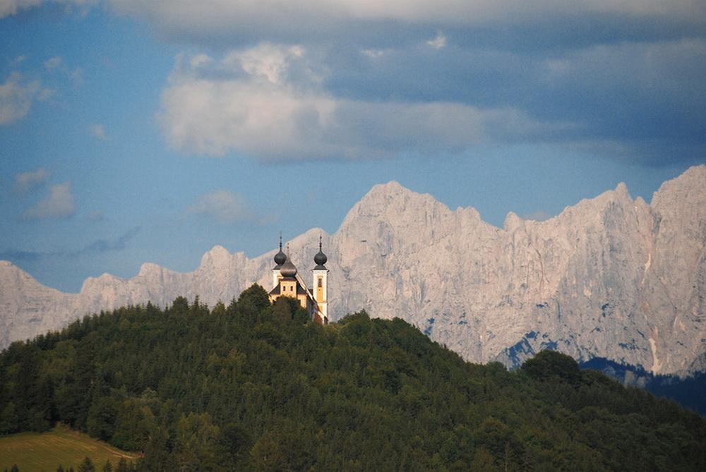 Wallfahrtskirche Frauenberg mit Hochtorgruppe